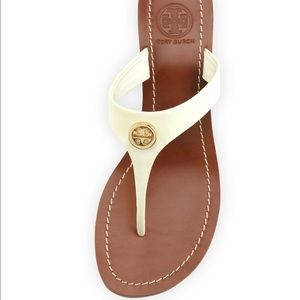 White patten leather TORY BURCH sandals